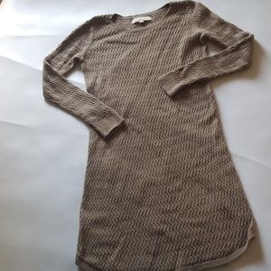 LOFT Tan Knitted Sweater Dress PS